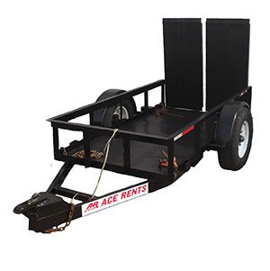 small equipment trailer for rent